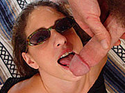 Wild babes in glasses sucking dick