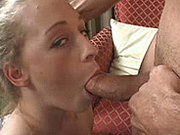 Teen Cloe giving blow job